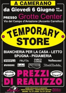 Temporary Store Grotte Center Camerano (AN)