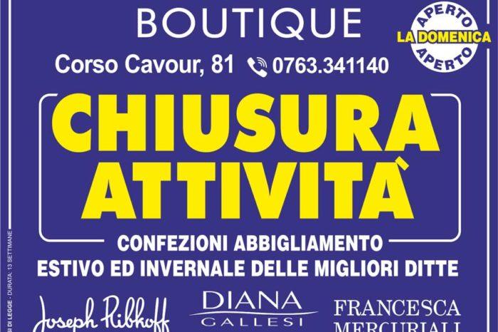 Organizzazione Svendita per Chiusura Attività Adriana Boutique