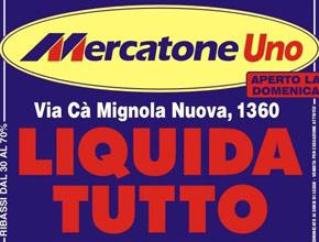 Mercatone Uno: Liquidazione per cessazione attività