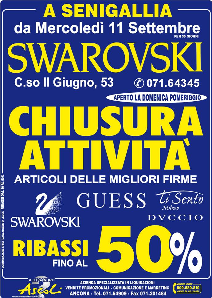 Swarovski a Senigallia, Chiusura Attività