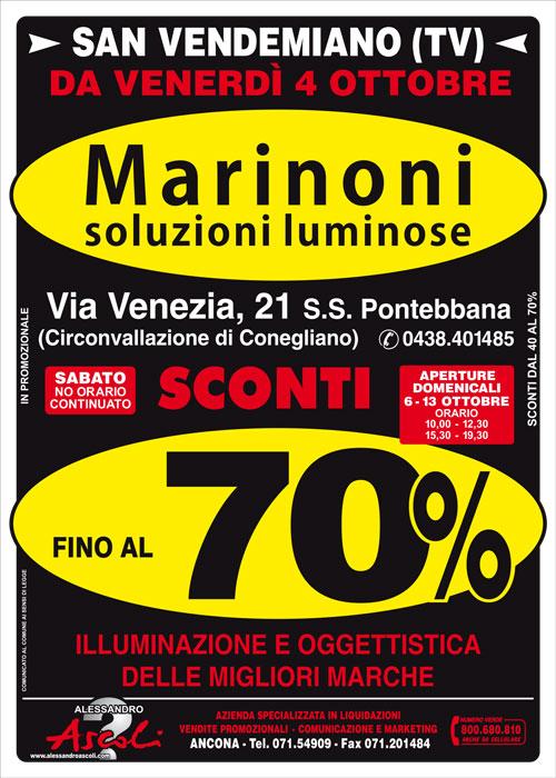 Vendita Promozionale da Marinoni, Soluzioni Luminose