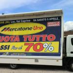 Camion Vela Svendita per Mercatone Uno