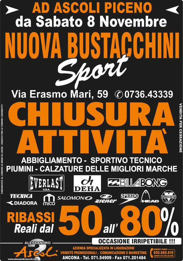 Organizzazione Chiusura Attività Nuova Bustacchini Sport