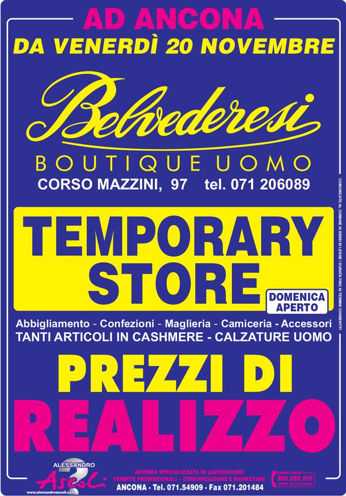Organizzazione Temporary Store Belvederesi Ancona