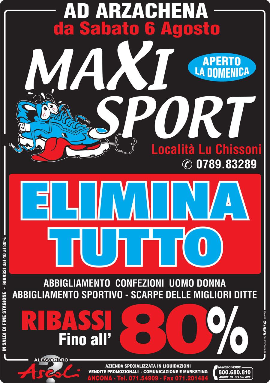 Svendita di Maxi Sport Abbigliamento Sportivo