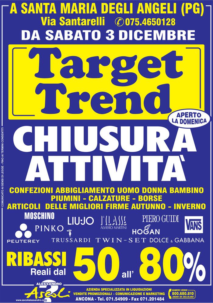 Chiusura Attività di Target Trend