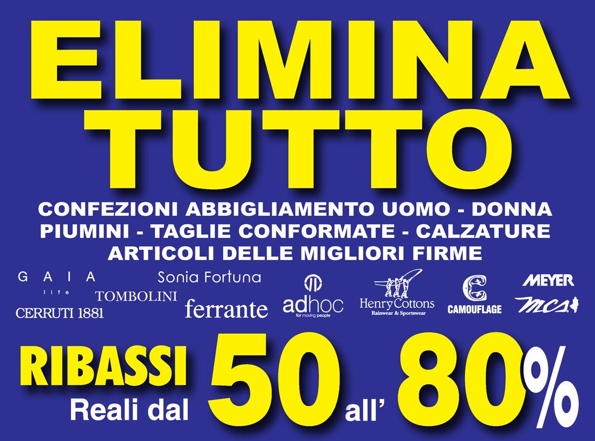 Svendita Luigi Liberatore Sconti dal 50 all'80%