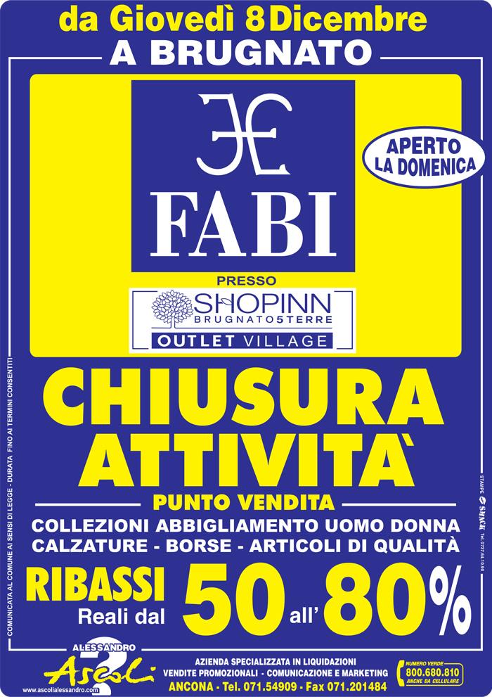 Chiusura Attività Fabi Store