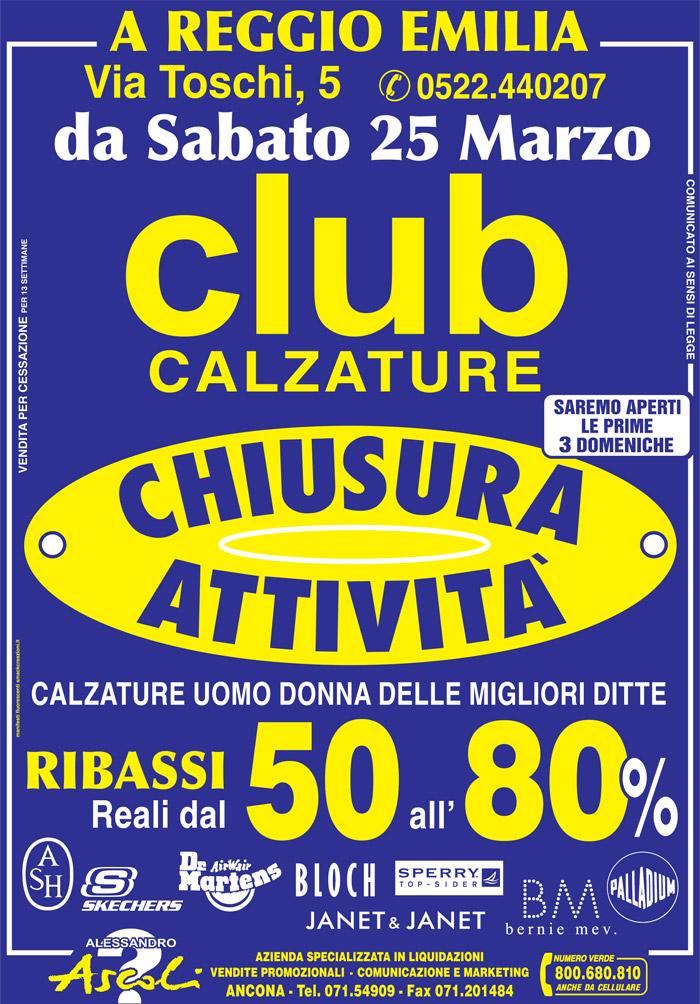 Chiusura Attività Club Calzature