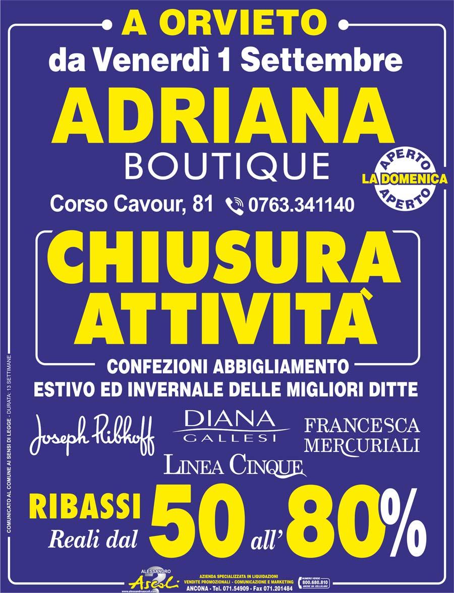 Chiusura Attività Adriana Boutique