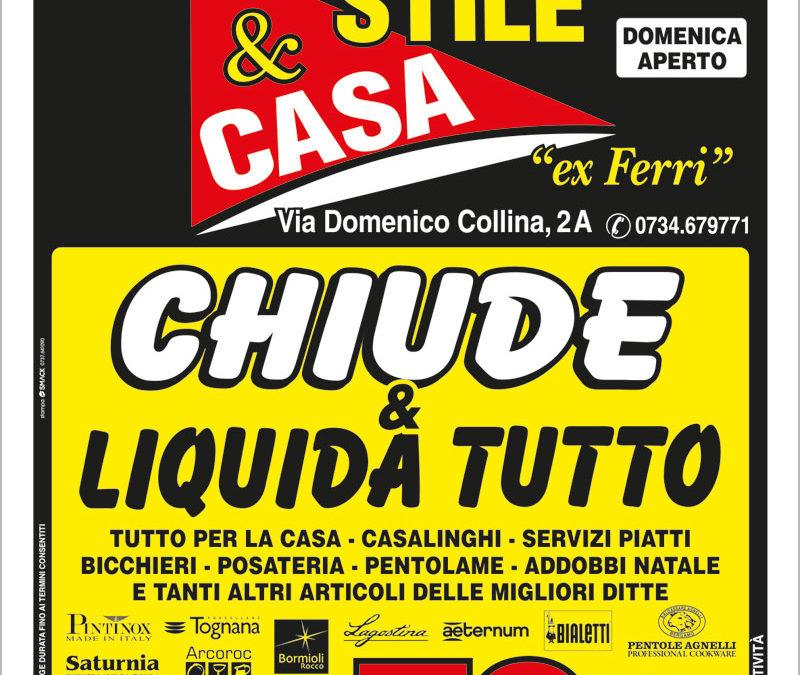 Porto San Giorgio: Stile&Casa chiude ed elimina tutto!!!
