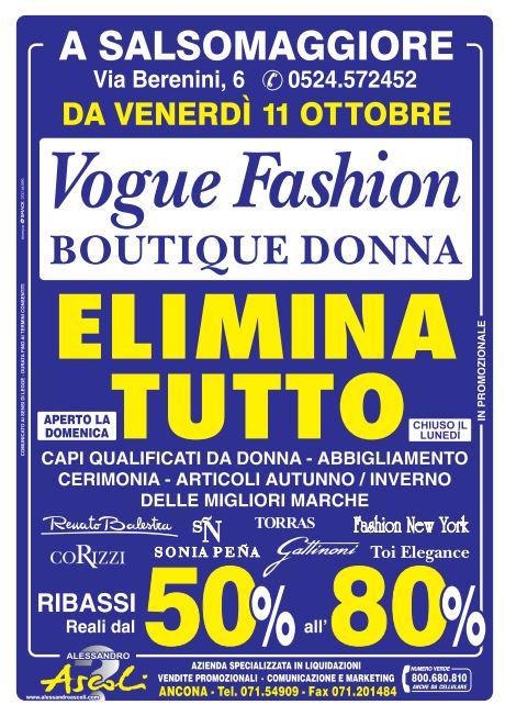 Salsomaggiore: Vogue Fashion elimina tutto!