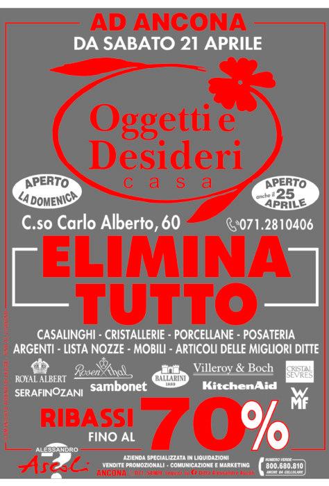 AD ANCONA: Oggetti e Desideri elimina TUTTO!!!