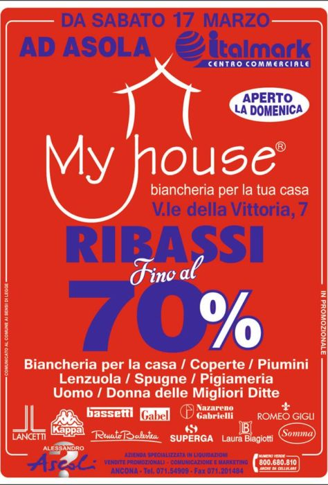 MyHouse Ribassi fino al 70%