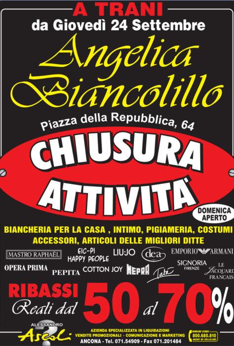 Chiusura Attività Angelica Biancolillo