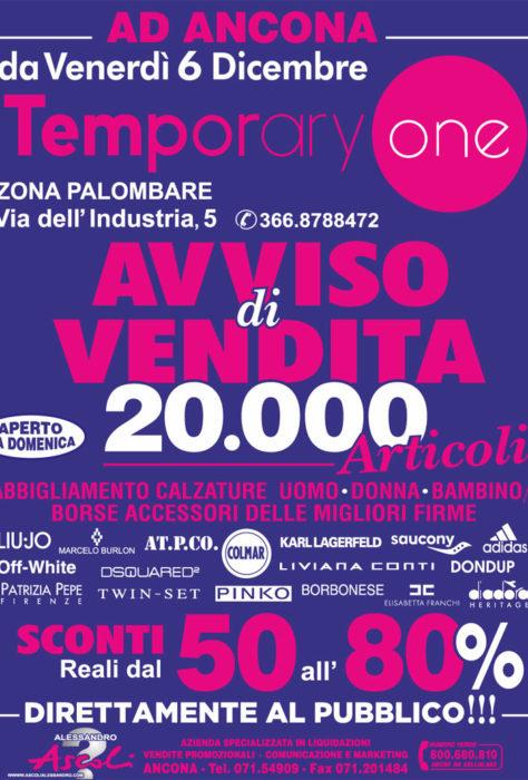 Ancona: Temporary One 20mila articoli!