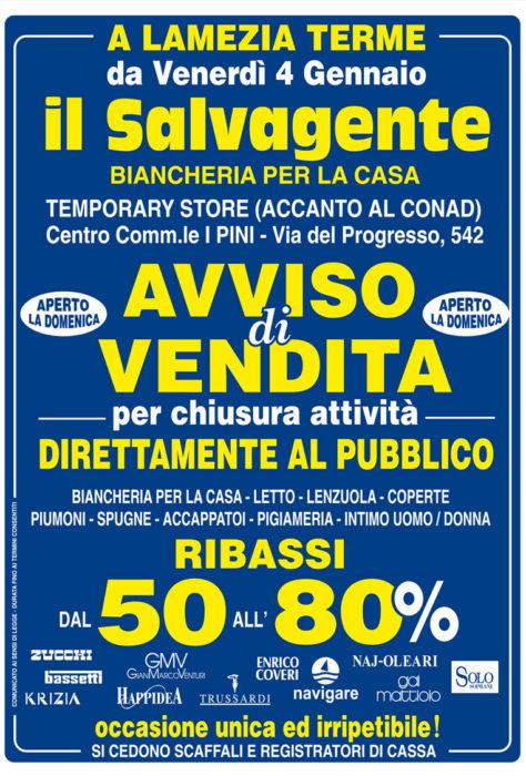 Lamezia Terme: Temporary Biancheria Casa FUORI TUTTO!