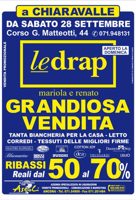 Vendita Promozionale Le Drap a Chiaravalle