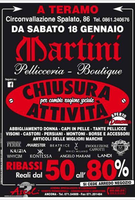 Teramo: Pellicceria Martini ELIMINA TUTTO!