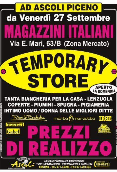 Temporary Store Magazzini Italiani ad Ascoli Piceno