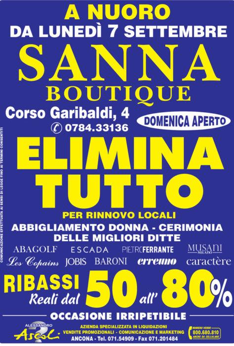 Svendita per Rinnovo Locali Sanna Boutique