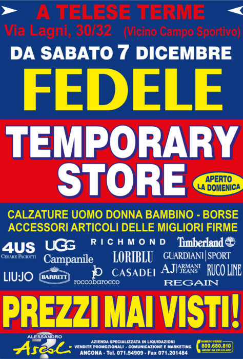 Temporary Store Fedele