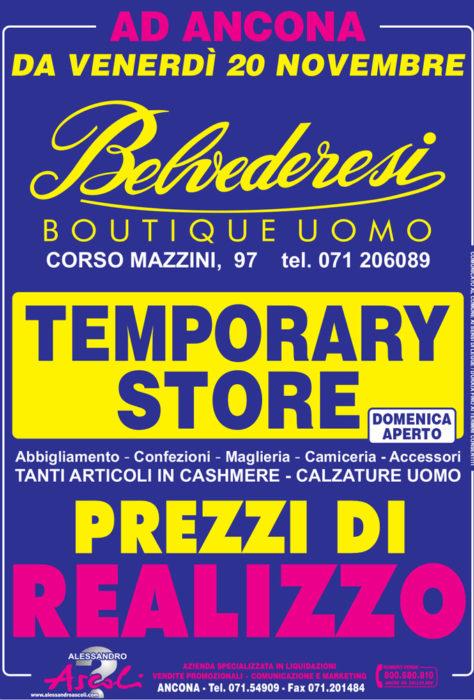 Temporary Store Belvederesi Boutique Uomo
