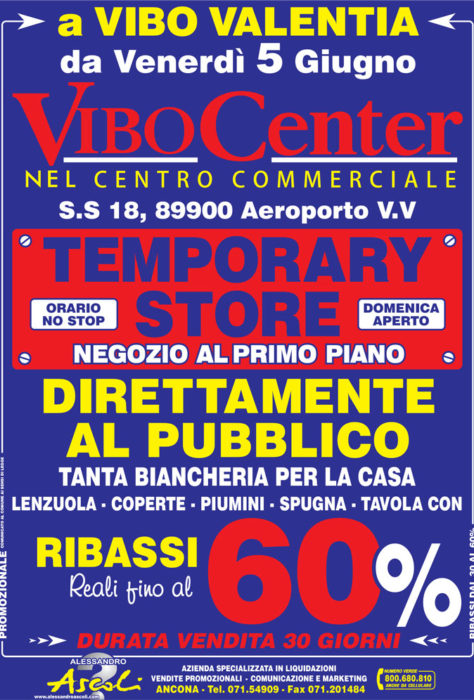 Temporary Store ViboCenter